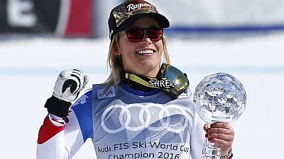 Alpine Skiing: Gut adds super-G title to overall World Cup