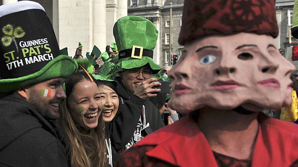 The world goes green for St Patrick