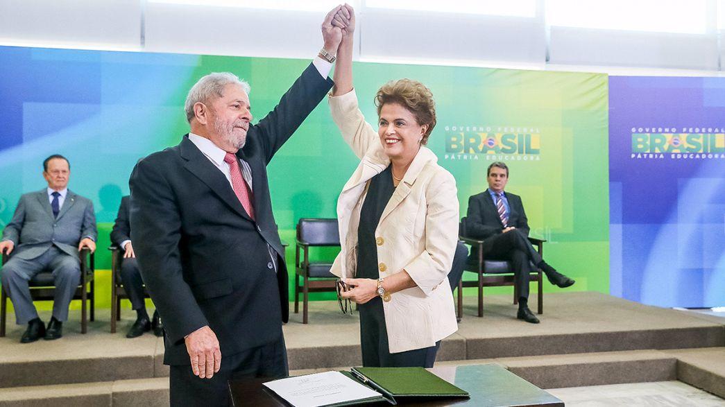 Brasile: la magistratura ferma la nomina di Lula, Dilma Roussef non ci sta