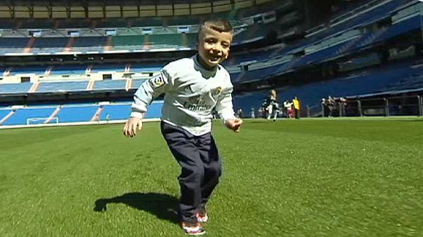 Sebesült palesztin kisfiú vendégeskedett a Real Madridnál