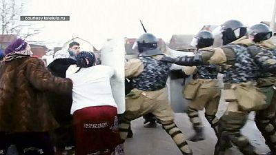 Streit um Gasleitung in Russland: Roma von Polizei verhaftet
