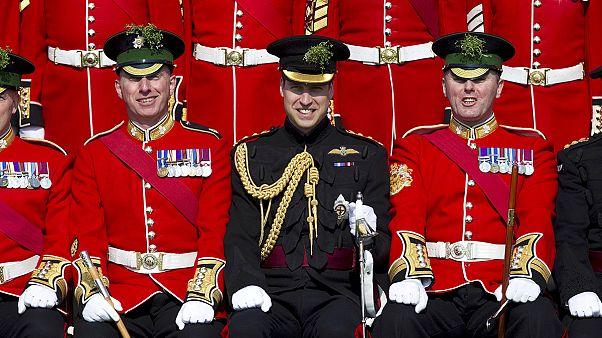 رژه پرنس ویلیام در مراسم رژه روز سنت پاتریک