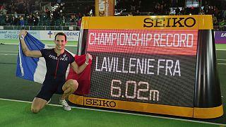 Renaud Lavillenie y Jennifer Suhr conquistan el oro en los Campeonatos del Mundo de atletismo en pista cubierta
