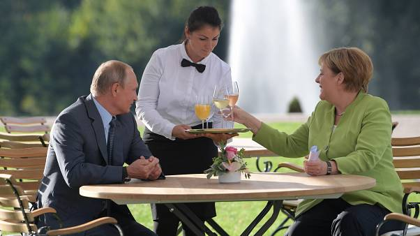 Image: Russian President Vladimir Putin visits Berlin