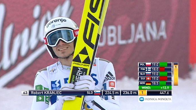 Kayakla atlamada Slovenya farkı