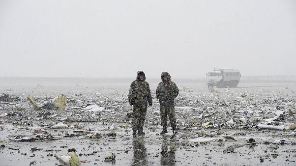 هواپیمای مسافربری نزدیک باند فرودگاه روستوف روسیه متلاشی شد