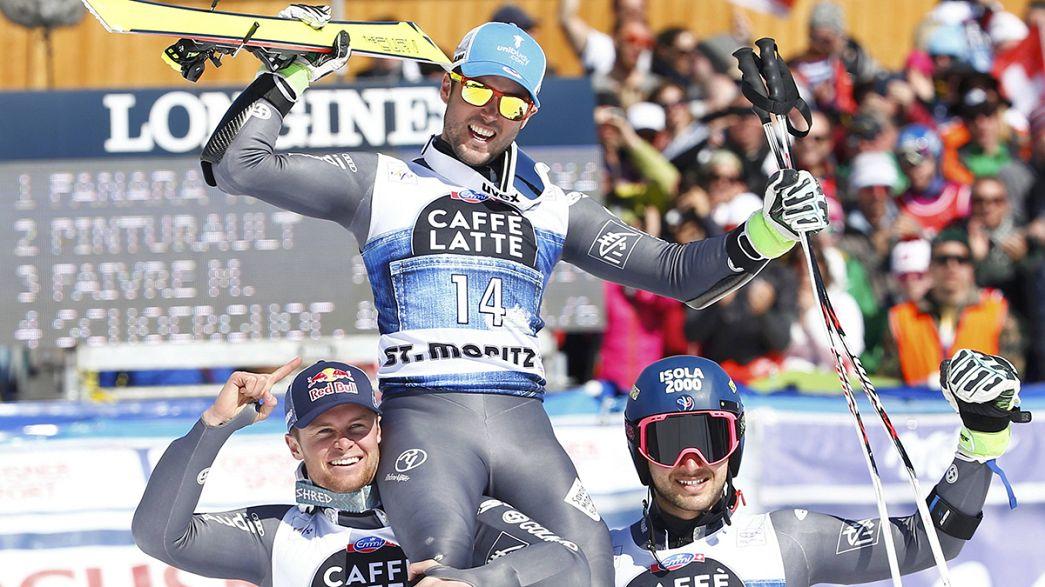 Esqui Alpino: Pódio francês no Slalom Gigante de Saint-Moritz