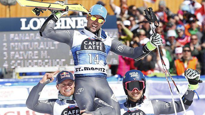 المتزلجون الفرنسيون يسيطرون على منصة تتويج منافسات التعرج العملاق