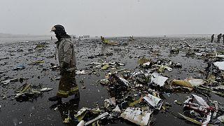 Nem tudni, mi okozhatta a Dél-Oroszországban lezuhant gép vesztét