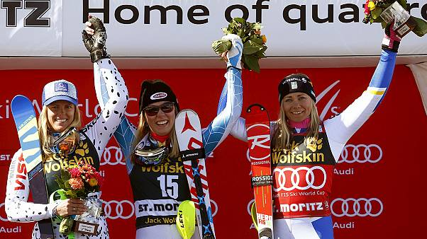 Shiffrin stuns, but Hansdotter takes slalom title in St. Moritz