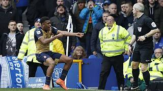 Nigeria's Iwobi scores as Arsenal win at Everton