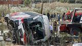 مقتل 13 طالبا على الاقل في تحطم حافلة شمال اسبانيا