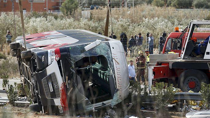 13 kişinin öldüğü İspanya'daki otobüs kazasında 1 Türk yaralandı