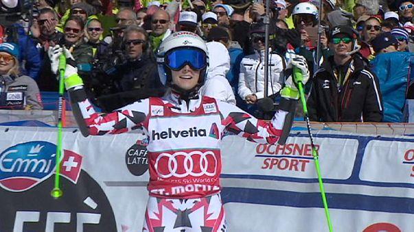 World Cup skiers cap their season at St.Moritz