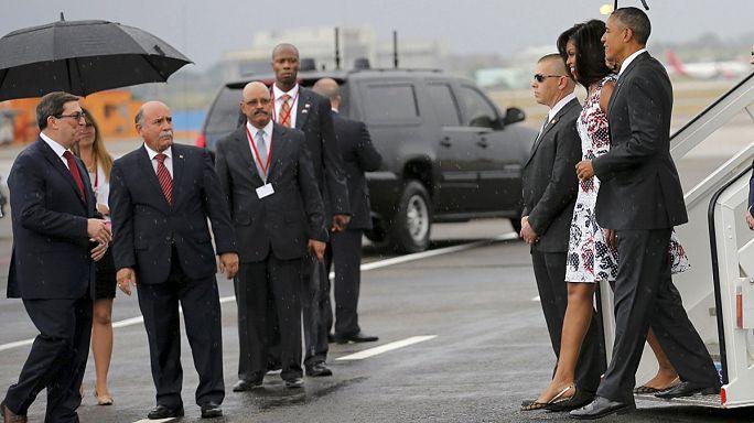 Megérkezett Kubába Barack Obama amerikai elnök