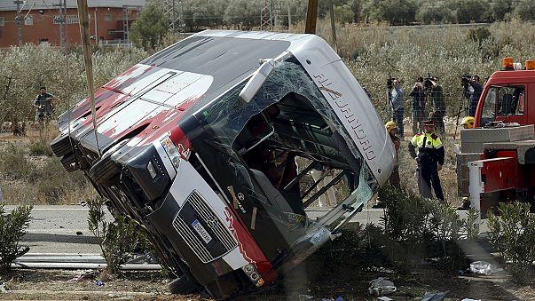 Accident de car en Espagne: le chauffeur s'est-il endormi au volant?
