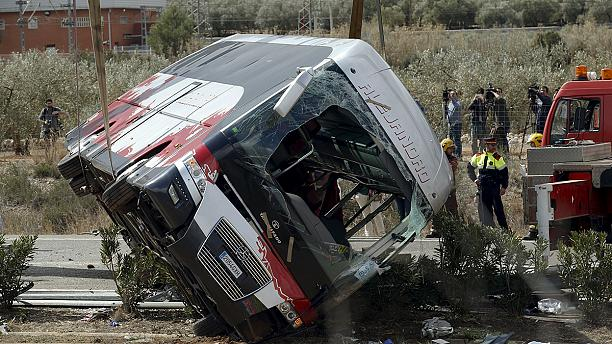 7 Italians and 2 Germans among victims of Spanish bus crash