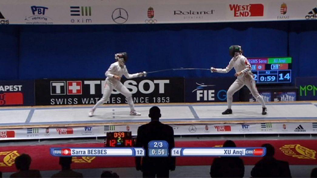 Anqi Xu y Gauthier Grummer son los triunfadores del Gran Premio de esgrima en Budapest