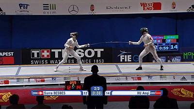 Anqi and Grumier boost Olympic fencing ambitions with Budapest wins