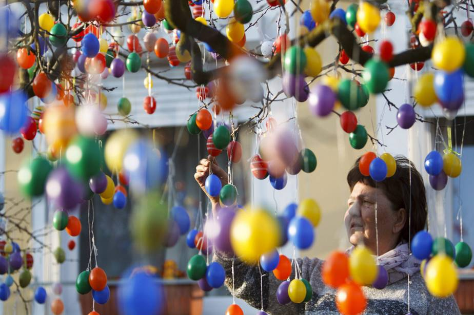 Hongrie : l'arbre à œufs (de Pâques)
