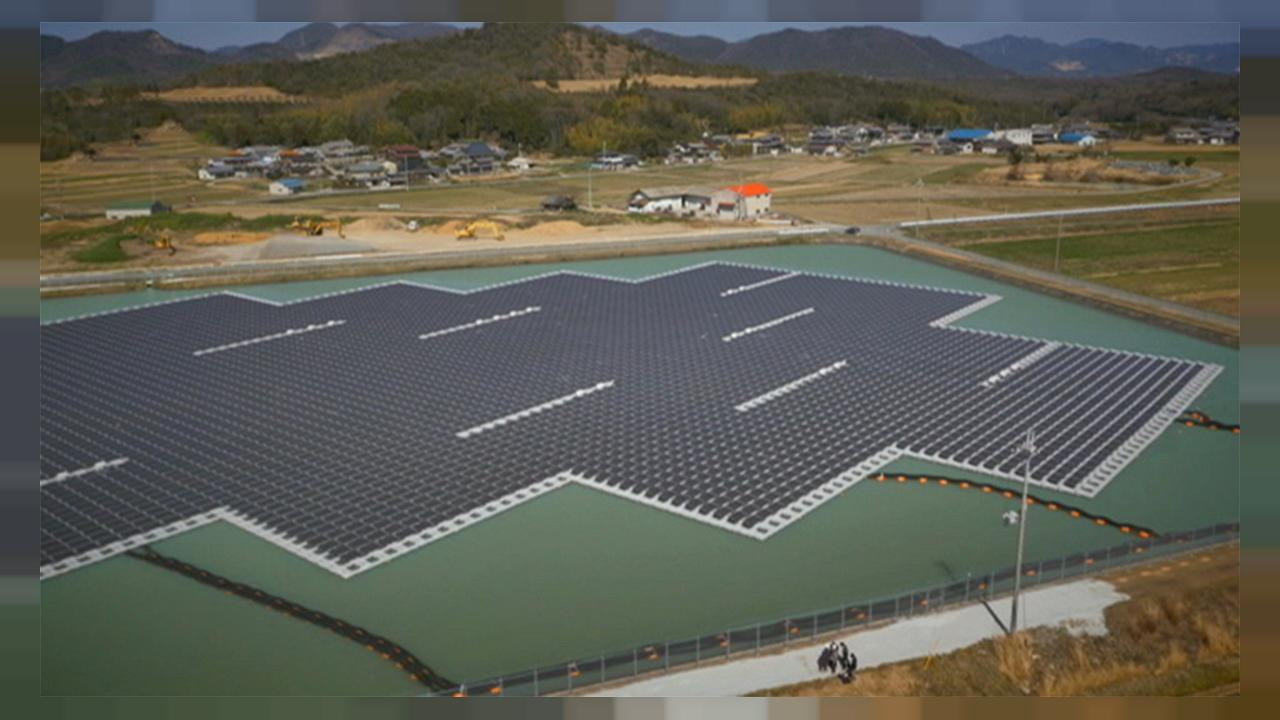 Schwimmende Solarenergie in Japan