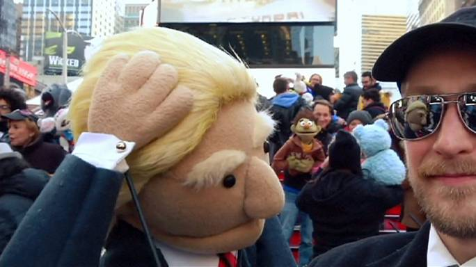 'Trump and Sanders' make appearance at World Puppetry Day