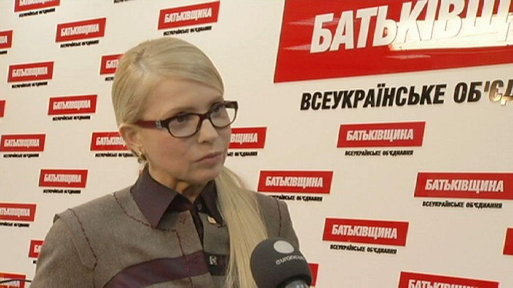 Yulia Timochenko à Euronews: Contamos com a solidariedade internacional no caso Savtchenko