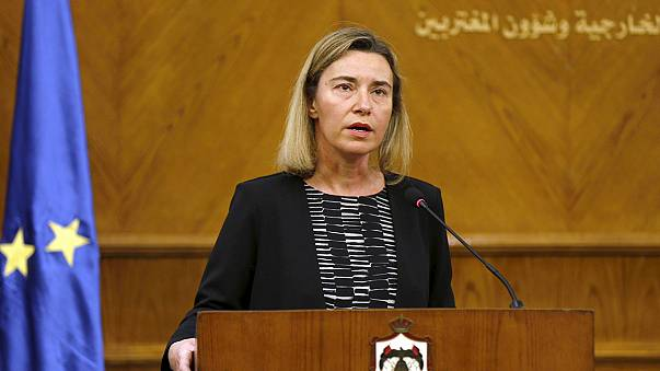EU foreign policy chief Mogherini weeps over Brussels bombings