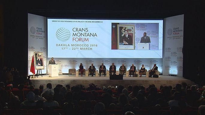 حضور رولا غنی، بانوی اول افغانستان در مجمع کران-مونتانا در مراکش