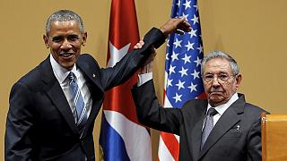 President Obama and Castro call for an end to Cuba embargo