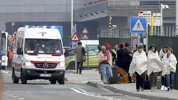 Travellers describe fleeing for their lives from Brussels airport bombings