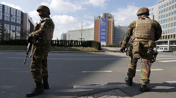 خیابان های بروکسل از حضور شهروندان خالی است