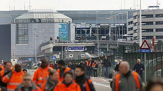 Brüksel Havalimanı savaş alanına döndü