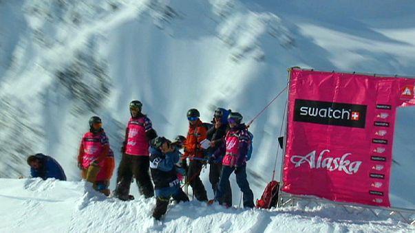 تزلج فري رايد في ألاسكا