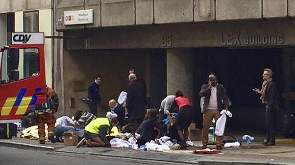 انفجار در شبکه متروی بروکسل شهر را به حالت نیمه تعطیل درآورد