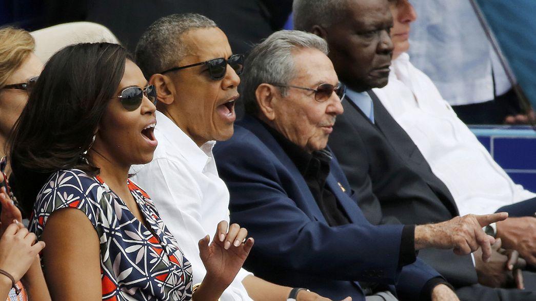 Obama a Cuba, minuto di silenzio per le vittime di Bruxelles