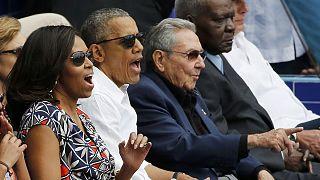 أوباما يختتم زيارته التاريخية إلى كوبا في أحد ملاعب البيزبول في هافانا