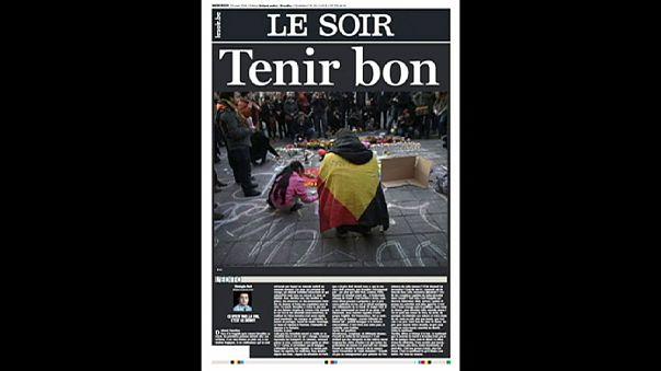 Quelques Unes au lendemain des attentats de Bruxelles