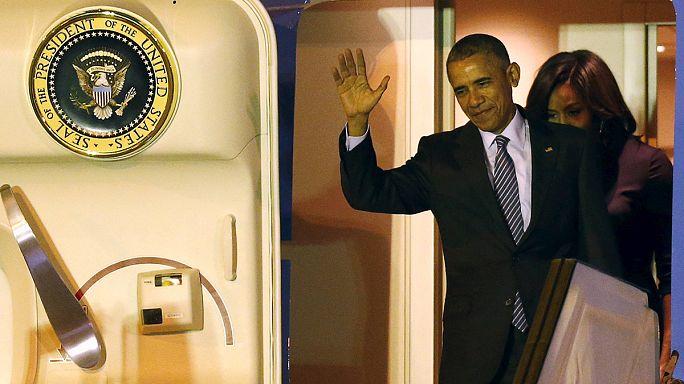 Obama arrives in Argentina