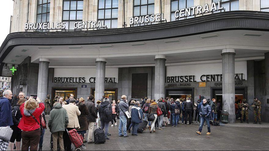 Relativa calma y mucha seguridad en el barrio europeo de Bruselas