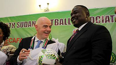 New Fifa president Gianni Infantino visits South Sudan