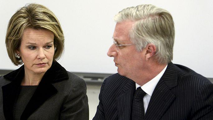 Belgian royal couple visit injured in hospital