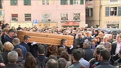 Funeral held for first Italian victim of Spanish coach crash