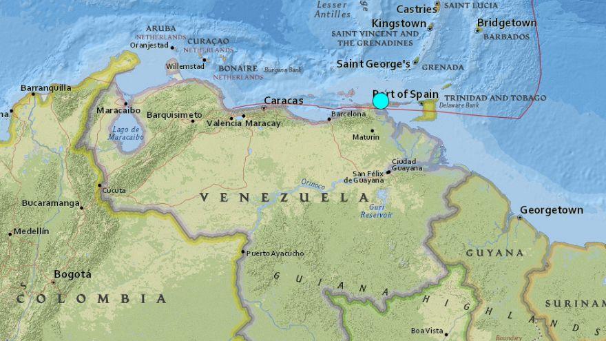 Image: Quake off Venezuela