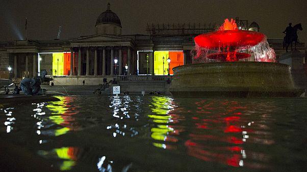Londonban is a Brüsszelben történtekre emlékeztek