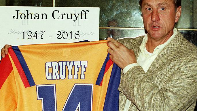 Dutch football legend Cruyff dies aged 68