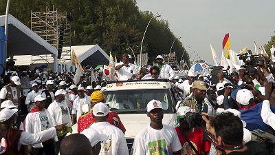 Les partisans de Sassou Nguesso célèbrent sa victoire