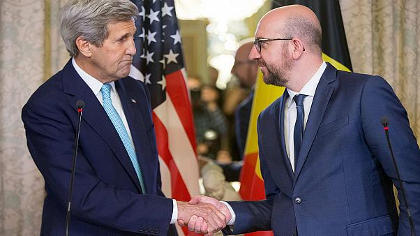 US confirms two Americans killed in Belgium attacks, Kerry visits Brussels