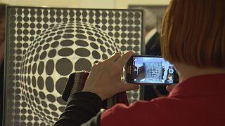 Exposición de Victor Vasarely en el Instituto francés de Budapest