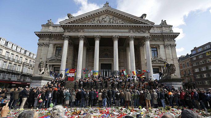 Homenaje a las víctimas de los atentados de Bruselas